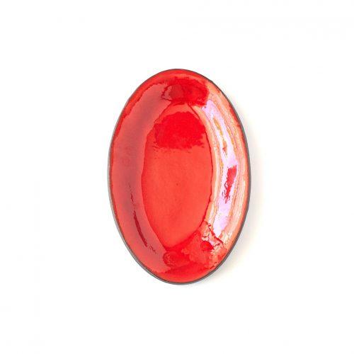 מגש אובלי אדום קטן